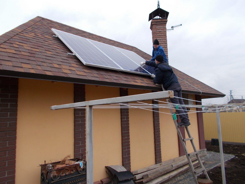 Монтаж дахової автономної сонячної електростанції на 3 кВт