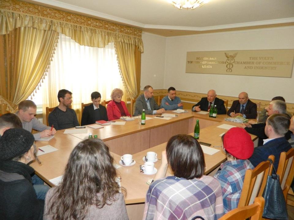 Засідання комітету провайдерів зелених послуг при Волинській ТПП