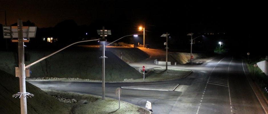 Встановлено вуличні ліхтарі на кордоні Україна-Білорусь
